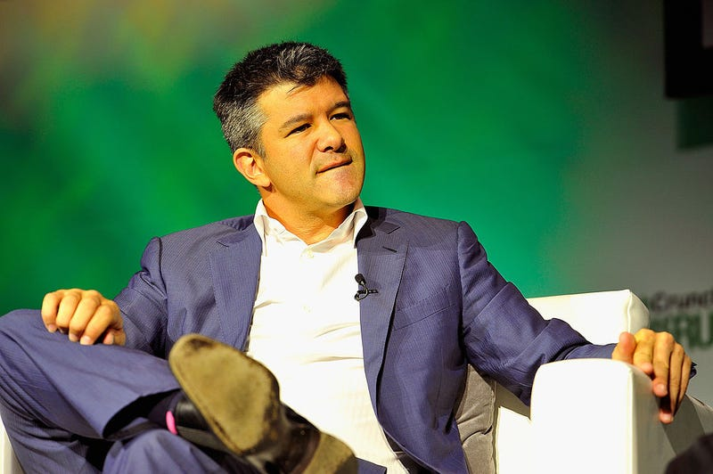 File photo of Travis Kalanick, who just announced that he was stepped down as CEO of Uber (Photo by Steve Jennings/Getty Images for TechCrunch)