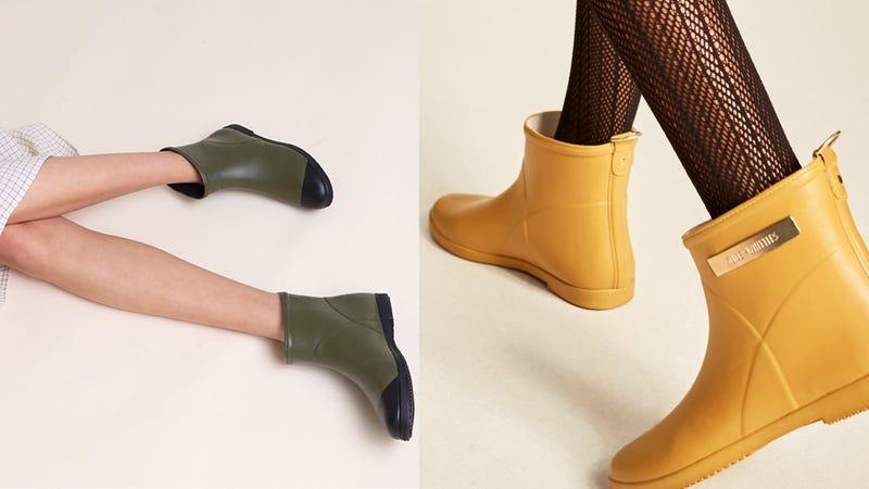 Minimalist Olive Ankle Rain Boot | $80 | Alice + WhittlesClassic Moutarde D'or Ankle Rain Boot | $85 | Alice + Whittles