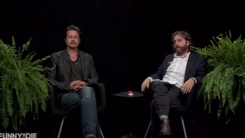 Illustration for article titled Between Two Ferns Welcomes Special Guest Bradley Pitz -- Uh, Brad Pitt