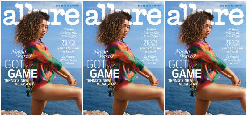 Illustration for article titled The 'Baby-Faced Assassin': Tennis Star Naomi Osaka Scores Allure's August Cover