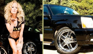 Illustration for article titled Kendra Wilkinson Drives A DUB Edition Cadillac Escalade