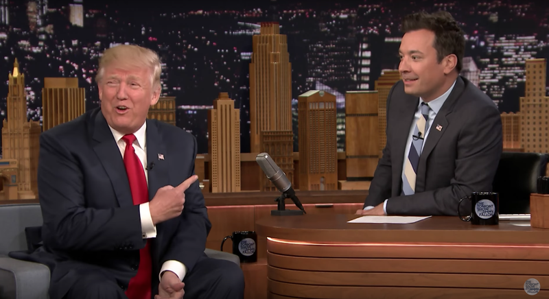 Illustration for article titled Jimmy Fallon Says He Would Have Done That Ingratiating 2016 Interview With Donald Trump Differently