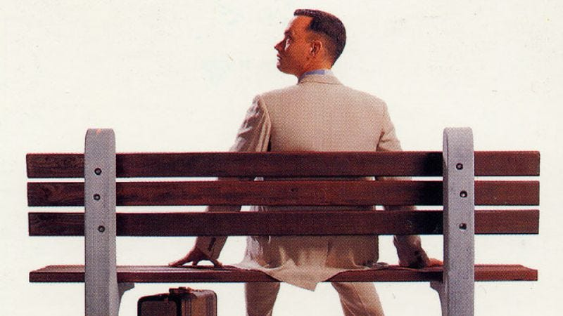 Illustration for article titled Adapting Forrest Gump turned a caustic satire into a sentimental romance