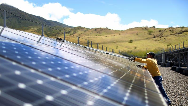 A solar park in Guanacaste, Costa Rica.