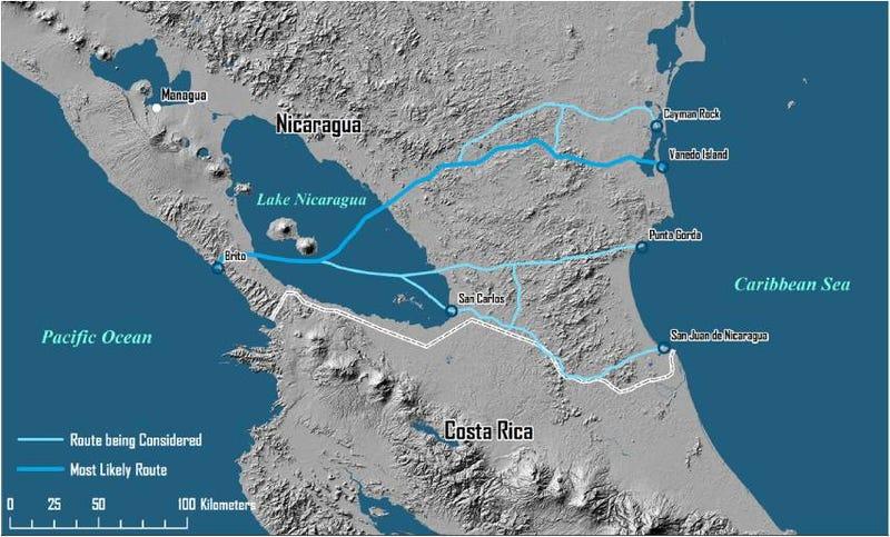 Illustration for article titled Científicos, perplejos ante el plan de Nicaragua para un canal gigante