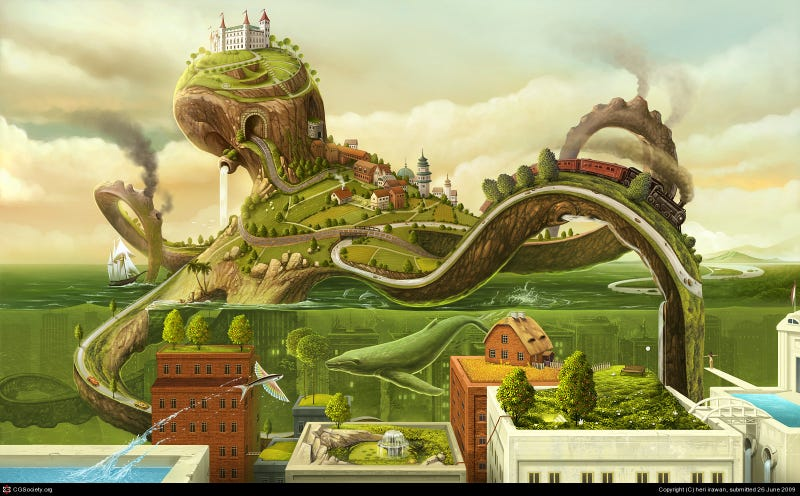 Illustration for article titled The Town that was Shaped Like an Octopus