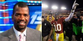 Suspended ESPN analyst Rob Parker (BET.com); Washington Redskins' Robert Griffin III (Rob Carr/Getty Images Sport)