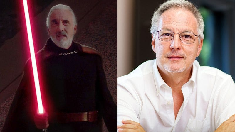 Count Dooku from 'Star Wars' and your father-in-law.