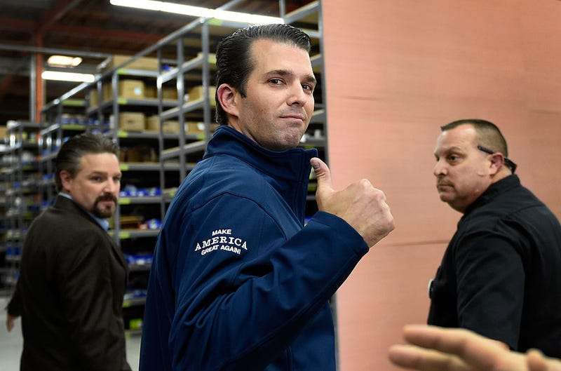 Donald Trump Jr., center (David Becker/Getty Images)