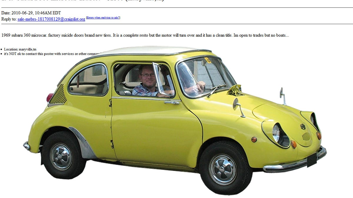 The Ten Strangest Cars For Sale On Craigslist