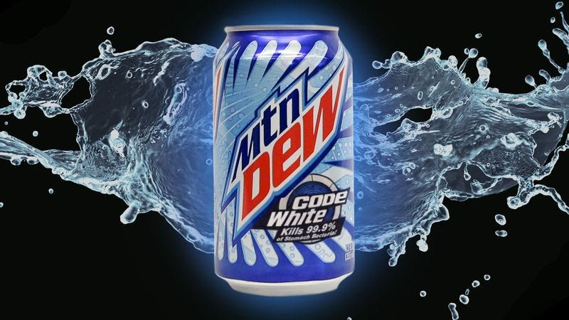 Illustration for article titled New Mountain Dew Vows To Kill 99.9% Of Stomach Bacteria