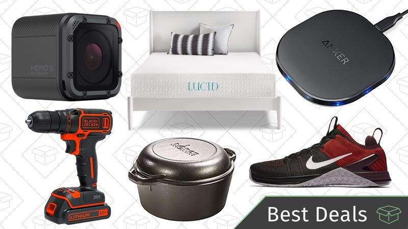Illustration for article titled Tuesday's Best Deals: Nike Sale, Lodge Dutch Oven, Mattress Gold Box, and More