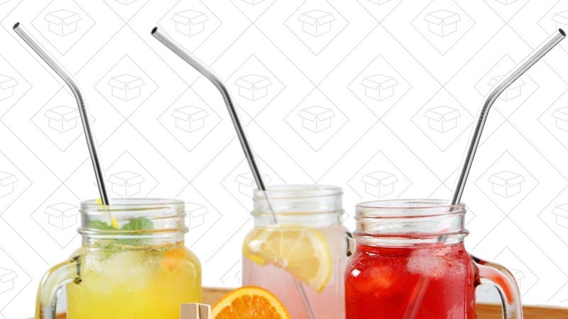 12-Pack X-Chef Metal Drinking Straws | $8 | Amazon | Promo code SGPR79OP
