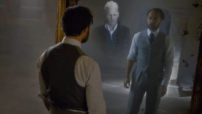 Dumbledore sees what his heart really wants in The Crimes of Grindelwald.