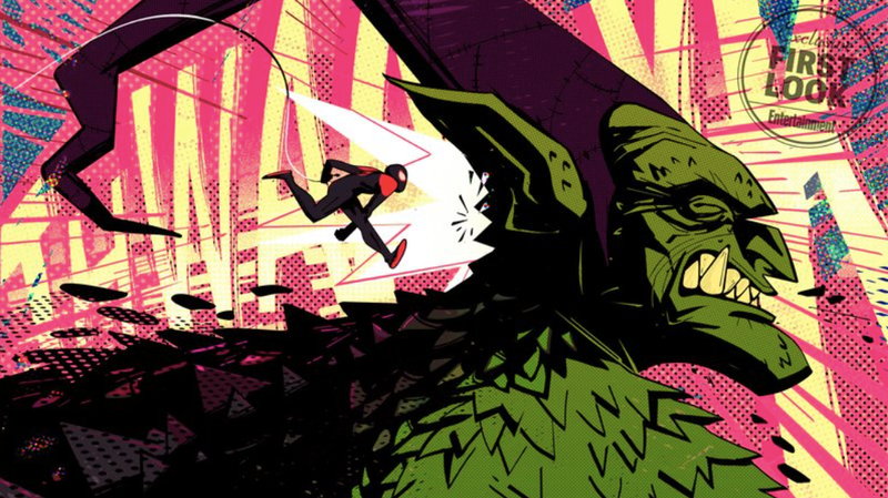 Miles Morales THWAAAK-ing the Green Goblin.