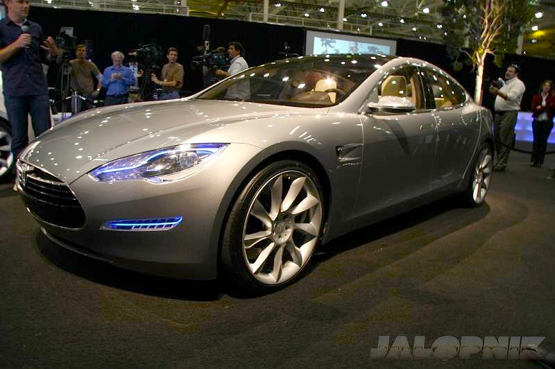 Illustration for article titled Tesla Model S Sedan Concept: $49,900 Seven-Seater Electric To Hit Streets In 2011