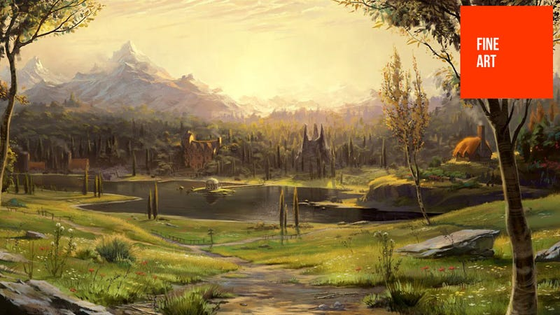 Illustration for article titled Fable's Concept Art is Like a Giant Storybook
