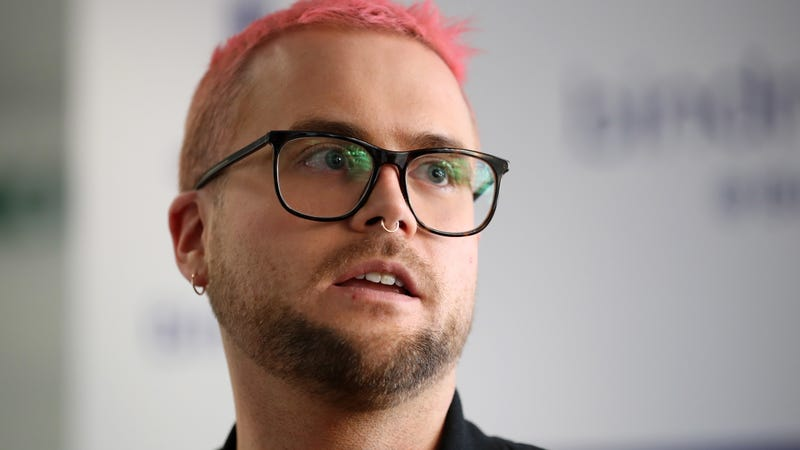 Whistleblower Christopher Wylie looks on after a press conference in the offices of his solicitors, Bindmans LLP on March 26, 2018 in London, England.