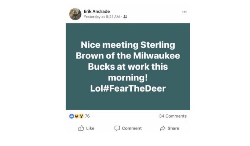 Cop Who Joked About Arresting Sterling Brown On Facebook Has