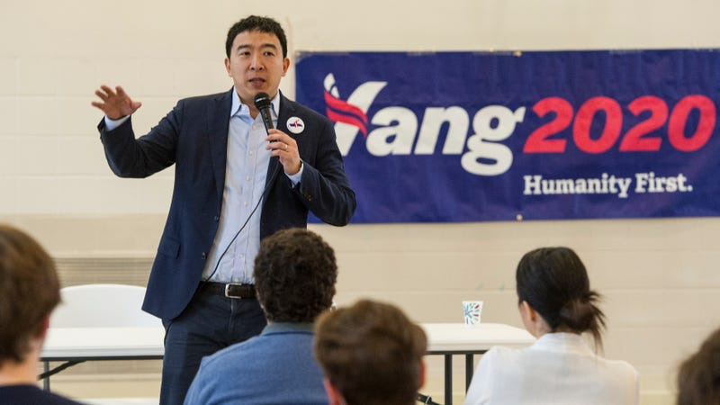 Illustration for article titled Giant Space Mirrors, Engineered Glaciers: Presidential Candidate Andrew Yang Shares His Wildest Plans For Fighting Climate Change