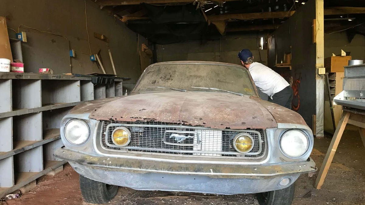 This Barn Find 1968 Ford Mustang Fastback Came With the Ashes of Its