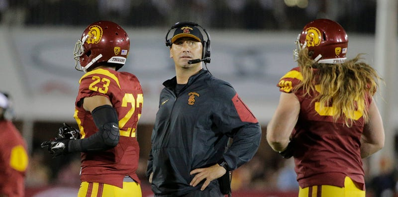 """Illustration for article titled Report: Steve Sarkisian Is Taking """"A Leave Of Absence"""" From USC, Will Seek Treatment (UPDATE)"""