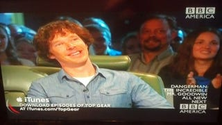 Illustration for article titled Benedict Cumberbatch was on Top Gear on BBCA last night...
