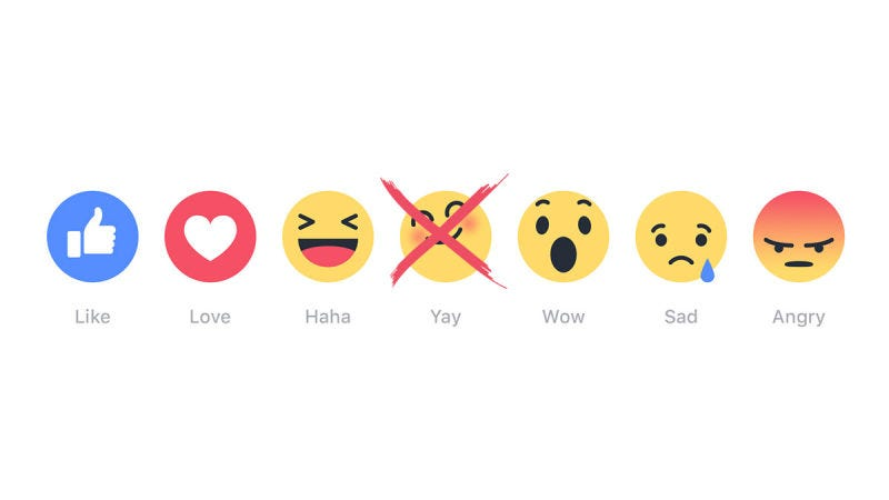 Illustration for article titled The Six Stages of Facebook Reaction Grief