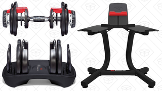 Set de Pesas Bowflex con 552 opciones + soporte | $300 | Amazon
