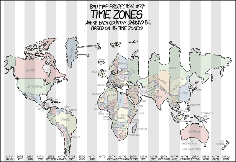 Distorted map shows each country forced into its time zone gizmodo uk image xkcd gumiabroncs Image collections