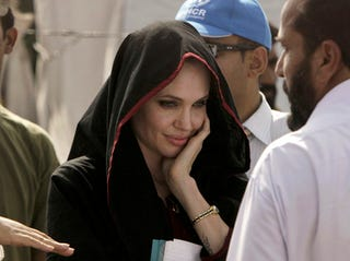 Illustration for article titled Angelina Slams Church Planning On Burning Koran