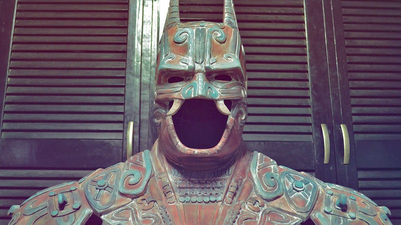 Illustration for article titled Ancient Mayan Batman looks ready for Battle