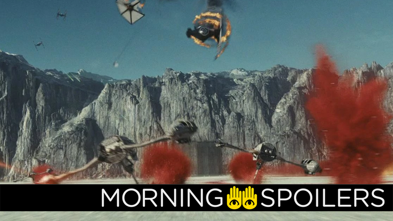 The flaming TIE Fighter wreckage is wildly unsubstantiated rumors, the speeders are us. And Natalie Portman, I guess?