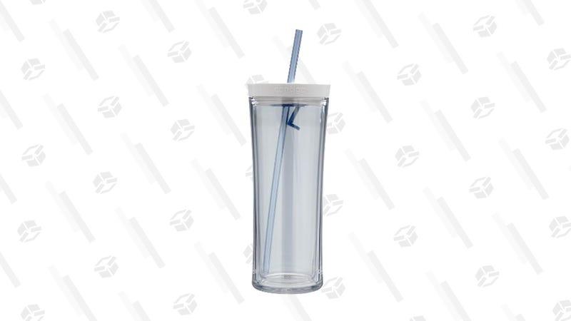 Contigo Autoclose Tumbler (Clear/Monaco color only) | $10 | Amazon