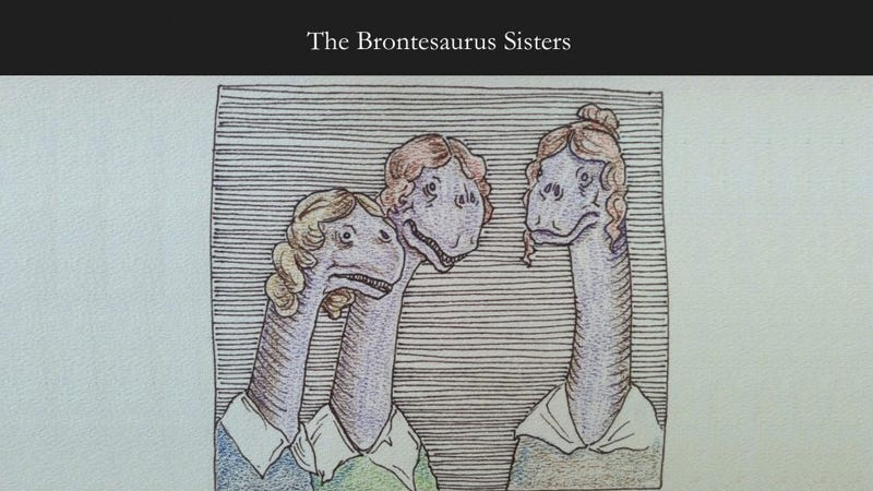 Illustration for article titled The Brontësaurus Sisters: When Literary Greats Meet Terrible Puns