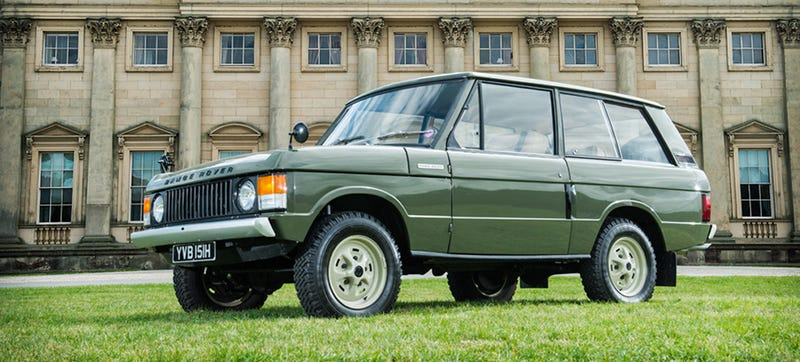 Illustration for article titled The First-Ever Range Rover Has Been Found & Restored, Now It's For Sale