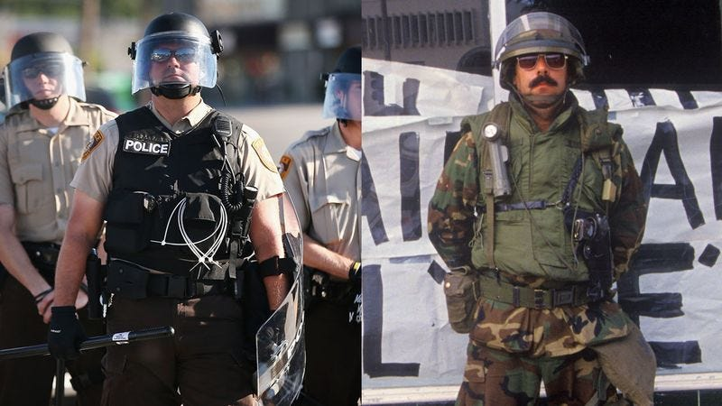 Illustration for article titled Police Or Army: Who Wore It Better?