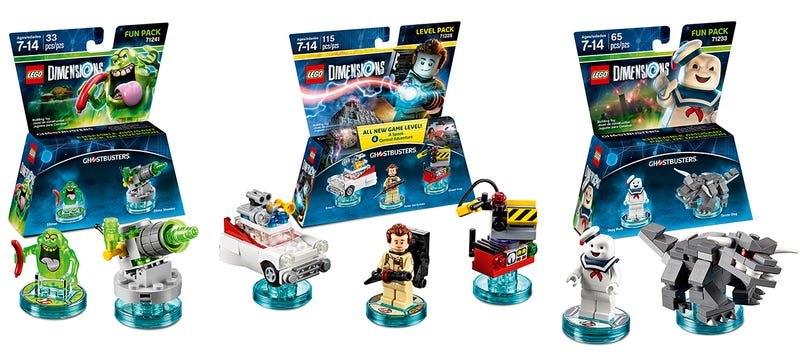 Illustration for article titled Lego Dimensions' Ghostbusters Packs Will Include Stay Puft and Slimer