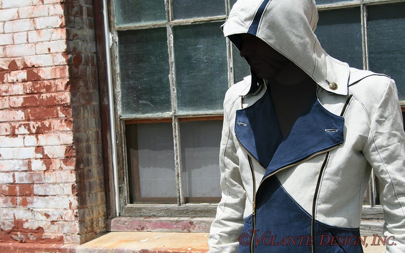 Here's Volante Design's latest jacket—which is a redesign of the Assassin's Creed III ja