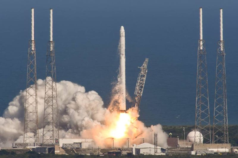 Illustration for article titled Falcon9 Reached The Barge But Did Not Survive The Landing [Updated]