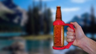 Illustration for article titled Go Pong Grips Make a Mug Out of Your Beer Bottle or Can