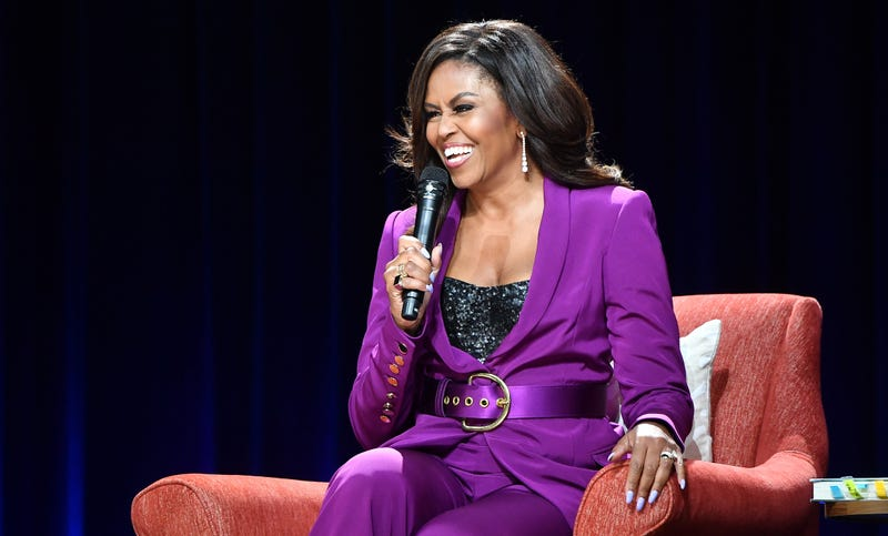 Former First Lady Michelle Obama attends 'Becoming: An Intimate Conversation with Michelle Obama'  on May 11, 2019 in Atlanta, Georgia.