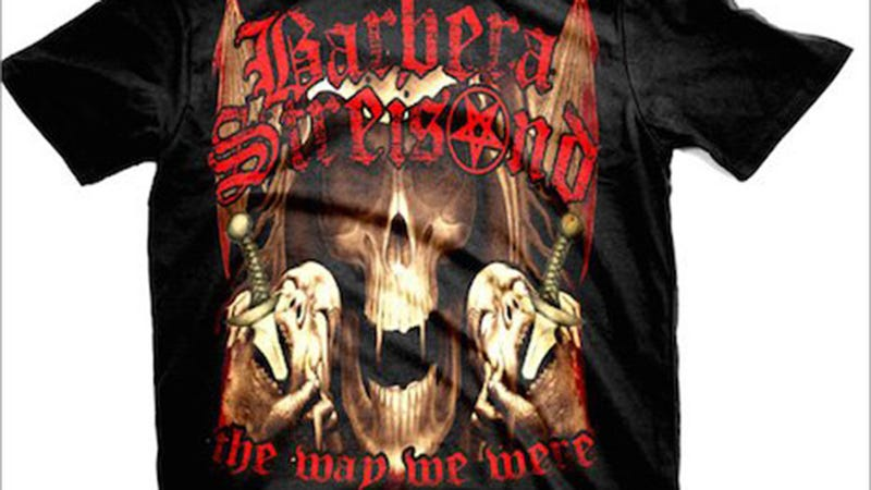 Illustration for article titled Why Can't These Heavy Metal T-Shirts for Streisand and Dion Be Reaaal?