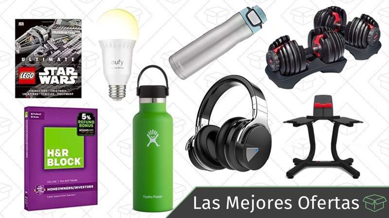 Illustration for article titled Las mejores ofertas de este jueves: Auriculares Bluetooth, pesas Bowflex, termos de agua y más