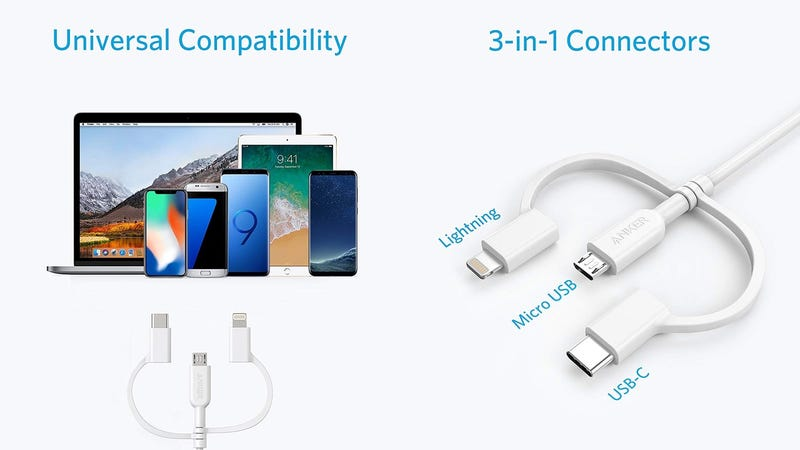 Anker PowerLine II 3-in-1 Cable | $11 | Amazon | Promo code ANKER3IN1