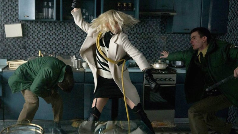 First Atomic Blonde Clip: Charlize Kicks Butt to a George Michael Soundtrack