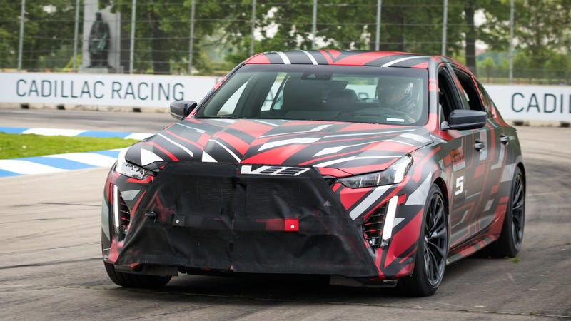 Cadillac offers a sneak peek at the future of Cadillac's V-Series as two prototypes take a lap around the Chevrolet Detroit Grand Prix presented by Lear track Saturday, June 1, 2019 on Belle Isle in Detroit, Michigan.