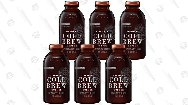 Perk Up With Six Bottles Of Starbucks Cold Brew For 2 Each