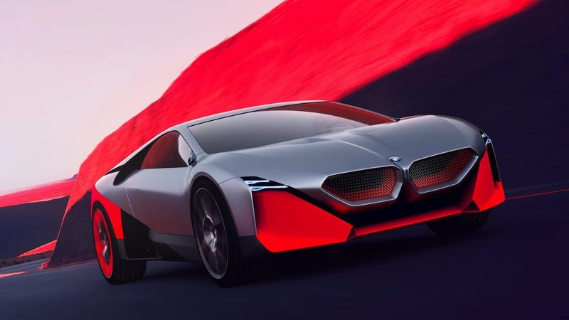 Illustration for article titled The 600 Horsepower BMW Vision M NEXT is BMW's Idea of a Hybrid Driver's Car of the Future