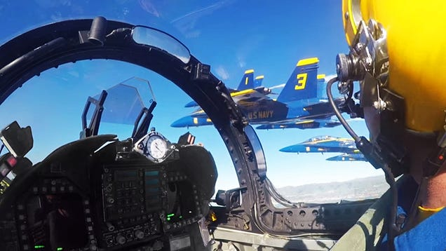 Check Out TheBlue AngelsPicture-Perfect Super Bowl Flyover FromInside the Cockpit